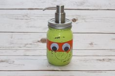 Teenage Mutant Ninja Turtle Pint Ball Mason Jar Soap Dispenser or Coin Bank - Home Decor, Gift, Boys Bathroom, Birthday, Children