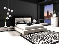 Black and white bedrooms ideas: Romantic sense