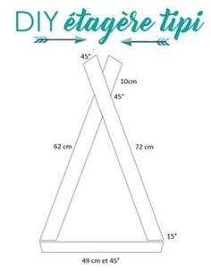 DIY teepee shelf for a child's room Une Fille Diy Tipi, Diy Etagere, Boy Room, Kids Room, Child's Room, Diy Baby Gym, Diy Regal, Baby Room Decor, Handmade Baby