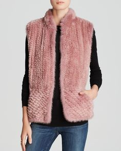 Maximilian Knitted Beaver Vest with Mink Trim - Bloomingdale's Exclusive | Bloomingdale's