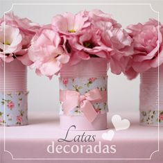 DIY: latas de tomate decoradas