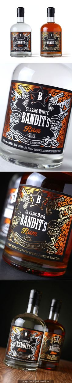 Bandit's Rum by 43'oz, Moldova  Did I miss this gorgeous rum packaging design PD