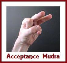 Acceptance Mudra balancedwomensblog.com