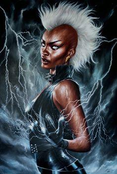 Storm (Ororo Munroe) Afrofuturism Cyberpunk Storm X-Men Comic Book Characters, Marvel Characters, Comic Character, Comic Books, Marvel Comics Art, Marvel Dc Comics, Marvel Heroes, Storm Xmen, Storm Marvel