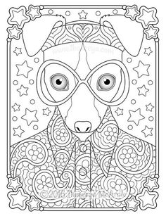 Groovy Whippet Coloring Page From Thaneeya McArdles Hippie Animals Book