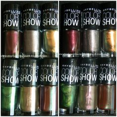 Swatches of all the new Maybelline Color Show Fall 2012 Polishes!
