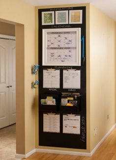10 Back to School Command Centers is part of Home command center - Back to school season is here! Get your house and life organized for the school year with one of these inspiring DIY command centers! Organization Station, Home Organisation, School Organization, Kitchen Organization, Organization Hacks, Family Organization Wall, Calendar Organization, Parent Command Center, Command Center Kitchen