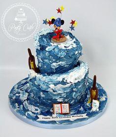 One of this weekends birthday cakes. #mickey #fantasia #wonky #cake #birthday
