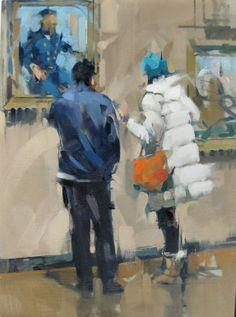 "Saatchi Art Artist: Maggie Siner; oil 2008 Painting ""Winter Visitors """