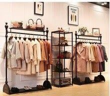 Good Offer Of Retro Clothing Store Display Stand On The Wall Men And Women Loadi Clothing Display Good In 2020 Clothing Store Displays Shelf Hanger Clothing Store