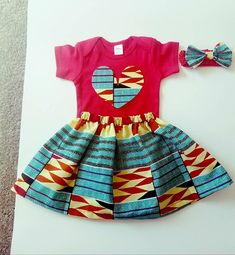 Etsy :: Your place to buy and sell all things handmade Baby African Clothes, African Dresses For Kids, African Babies, African Children, Baby Girl Dresses, Little Dresses, Baby Dress, Native Fashion, African Fashion