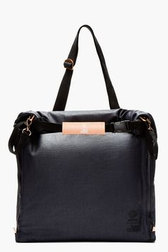 ADIDAS BY TOM DIXON Navy convertible Tom Dixon edition PACKABLE TOTE