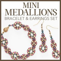 Mini Medallions Bracelet & Earrings Set