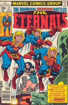 Eternals # 17 by Jack Kirby & Frank Giacoia