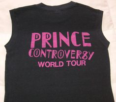 VINTAGE 'PRINCE' 1982 CONTROVERSY WORLD TOUR SLEEVELESS T-SHIRT PRE- PURPLE RAIN Back