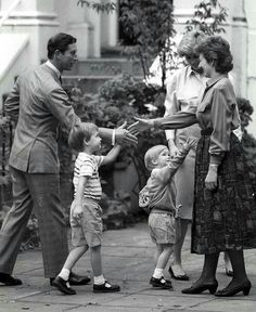 Diana, Prince Charles, William and Harry