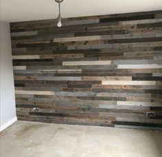 Rustic Wood Walls, Wooden Walls, Pallet Walls, Diy Pallet Wall, Pallet Wall Bedroom, Wood Plank Walls, Palet Wood Wall, Flooring On Walls, Diy Wooden Wall