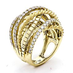 Yellow Gold Rope Band