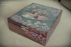 """Finest Teas"" handmade wooden box for tea www.meriart.pl.tl"