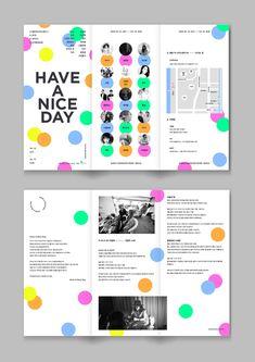 해브 어 나이스 데이 포스터 리디자인 <통통 튀는 봄 나들이.> - 그래픽 디자인, 일러스트레이션 Leaflet Design, Map Design, Book Design, Layout Design, Print Design, Graphic Design, Brochure Layout, Brochure Design, Branding Design