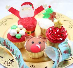 Postreadicción galletas decoradas, cupcakes y pops: Cupcakes de Navidad: renos