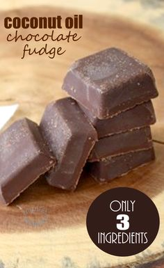 Decadent Coconut Oil Chocolate Fudge! | Delicious, easy-to-make & good for you!