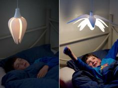 LULL is a lamp that opens and closes like a flower