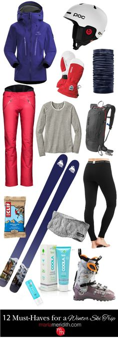 12 Must-Haves for a Winter Ski Trip. With these great items you will stay warm, dry, fashionable & HAPPY! MarlaMeridith.com ( @marlameridith )