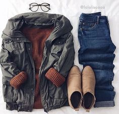 Cozy, cute and stylish: The *perf* cool weather outfit. (Credit: Lalalisaaaa) Cozy, cute and stylish: The * perfect * cool weather outfit. Cute Fall Outfits, Fall Winter Outfits, Autumn Winter Fashion, Stylish Outfits, Hipster Outfits, Winter Wear, Mens Winter, Fashion Mode, Look Fashion