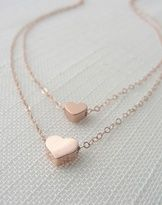 Rose Gold Hearts Necklace.