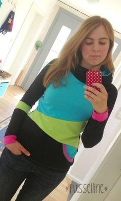 Wenn man einen do-it-yourself/Näh-Blog schreibt und auch viele Kleidungsstücke für sich selbst näht, sollte man diese wohl auch an sich...