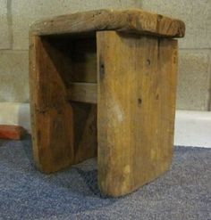 ♥ Old Bench - milking stool Wood Stool, Stool Chair, Pallet Barn, Barn Wood, Old Benches, Milking Stool, Driftwood Furniture, Composite Adirondack Chairs, Small Bench