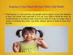 Keeping A Close Watch On Your Child's Oral Health