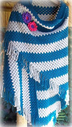 Corner to Corner Granny Shawl ~ free pattern