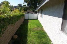 Nice side yard of home - gated