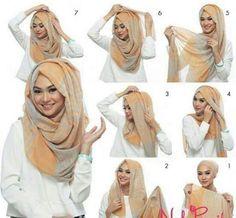 Loose hijab tutorial. Hijab Chic blog.