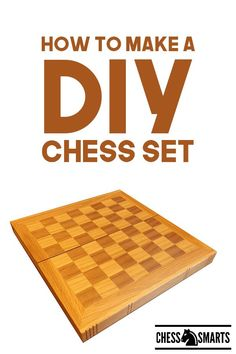 How to Make a DIY Chess Set. Looking for a fun diy project that you can use? Check out these tips on how to make a chess set that you can play or give as a gift, or even sell.