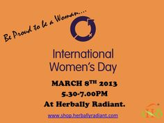 We are so proud to be celebrating International Women's Day- a global even from our small town in Sylvania Ohio, USA. Come on over ladies- Give yourself an evening of relaxation, self confidence and just pure fun. Please RSVP at info@herballyradiant.com
