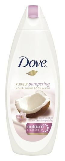 Healing Body Washes for Dry, Irritated Skin   Beauty High dove purely pampering nourishing body wash in coconut milk with jasmine pearls,$8.99,drugstore.com