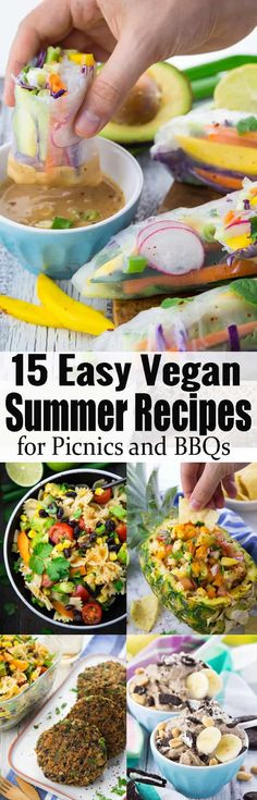 If youre looking for vegan summer recipes, this is the perfect post for you. It includes vegan pasta salads, vegan grilling recipes, and some vegan ice cream recipes! Find more vegan recipes a Vegan Dinner Recipes, Delicious Vegan Recipes, Veggie Recipes, Whole Food Recipes, Vegetarian Recipes, Healthy Recipes, Dishes Recipes, Beef Recipes, Vegan Grilling