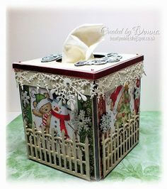 Decorative Tissue Box Cover Jeweled Tissue Kleenex Box Cover Repurposed Vintage Modern Jewelry