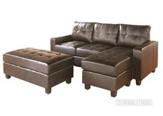 LYSSA BROWN Color Reversible Sectional Sofa With Ottoman /Sofa Bed , Sofa & Ottoman, NZ's Largest Furniture Range with Guaranteed Lowest Prices: Bedroom Furniture, Sofa, Couch, Lounge suite, Dining Table and Chairs, Office, Commercial & Hospitality Furniturte