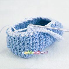 Come fare scarpine all'uncinetto modello ballerine Hobby, Friendship Bracelets, Diy And Crafts, Shoes, Crochet Clothes, Bebe, Imagination