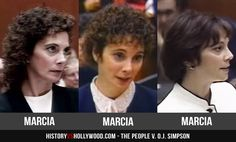 Marcia Clark hairstyles during the O.J. Simpson murder trial. Portrayed by Sarah Paulson in The People v. O.J. Simpson.
