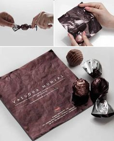 Clients get two treats with this design; a delicious chocolate and a brilliantly creative business card 20 innovative business cards to inspire you