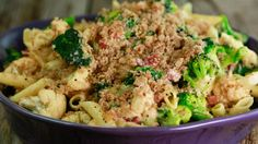 Roasted Cauliflower, Broccoli and Pasta Bake with White Cheddar
