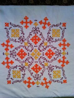 Kutch embroidery on my cushion cover !!