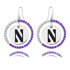 Northwestern Wildcats Sterling Silver and Purple Cz Circle Style Earrings Collegiate Jewelry Co. http://www.amazon.com/dp/B00M8AR2SS/ref=cm_sw_r_pi_dp_nxIBvb0F1319W