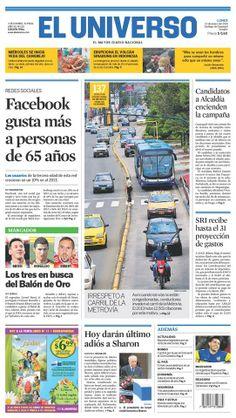 Portada de #DiarioELUNIVERSO del lunes 13 de enero del 2014. Las #noticias de #Ecuador y el mundo en: www.eluniverso.com