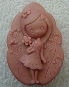 Creativemoldstore Lovely Girl Z236 Craft Art Silicone Soap Mold Craft Molds DIY Handmade Soap Molds *** You can find more details by visiting the image link.